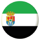 Extremadura Flag 58mm Button Badge.
